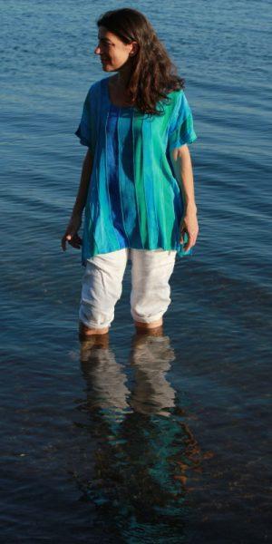Aqua viscose blouse