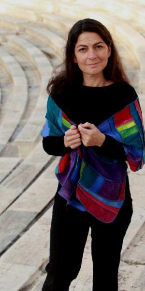 zijden sjaal met patchwork